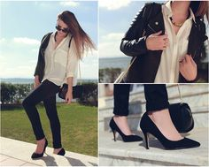 Bershka Black Heel #fashion #women #style #fall #outfits