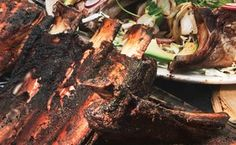 Dinosaur Bones with Chipotle-Cherry Barbecue Sauce