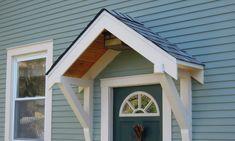 awning front door - Google Search Front Door Awning, Door Overhang, Diy Awning, Metal Awning, Exterior Front Doors, Window Awnings, Diy Pergola, Gazebo, Pergola Cover