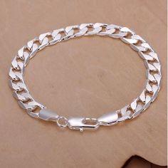 A Stylish Silver Plated Curb Bracelet