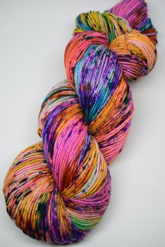 hand dyed yarn, hand painted yarn, handpainted yarn, superwash merino yarn…
