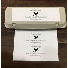 Raising chickens and want to share the eggs with family and friends. I wanted to put labels on the egg cartons so came up with this design. Excited to find the perfect label to use.