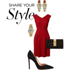 Dinner Date by sonyastyle on Polyvore featuring Closet, Gianvito Rossi, Just Cavalli, Rolex, Roberto Cavalli, contestentry and PVShareYourStyle