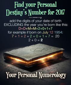 Magical Recipies Online | Numerology for 2017