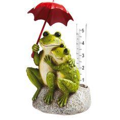 Found it at Wayfair - Frog with Rain Gauge