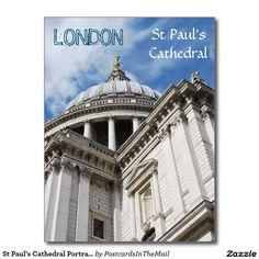 St Paul's Cathedral Portrait Postcard