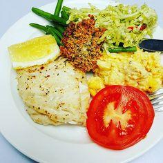Sund frokost #sund #grønsager #fisk #livsstilændring #vægttab