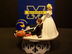 Michigan Wolverine Cake Topper