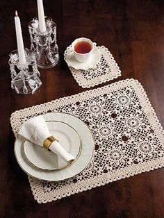 Crochet - Holiday & Seasonal Patterns - Summer Patterns - Summer Dreams Place Mat & Coaster