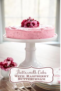 Cupcakes, Cupcake Cakes, Mini Cakes, Buttermilk Cake Recipe, Raspberry Buttercream, Rasberry Cake, Buttercream Frosting, Crunch Cake, Bowl Cake