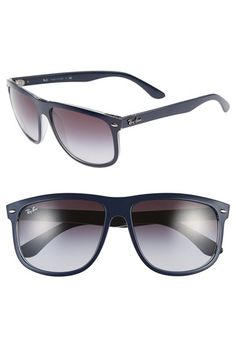 17335a9a0804 Ray-Ban  Boyfriend Flat Top Frame  60mm Sunglasses available at  Nordstrom
