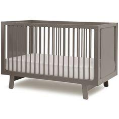 $730.00  Sparrow Crib in Grey  #PoshTotsNursery  room  2