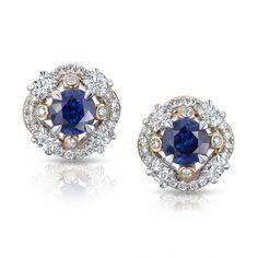 Blue Sapphire Earrings - Fabergé Marie Blue Sapphire Earrings