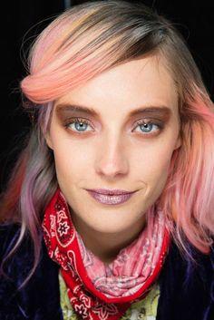 Model Chloe Norgaard's trademark colored hair