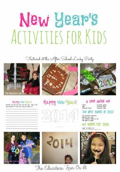 New Year's Activities for Kids including Printable Interview, Writing Prompt and Craft #newyear2014