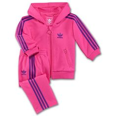 fcaa284fd11 adidas Infants & Toddlers Hooded Flock Track Suit Adidas Kids, Girl Closet,  Little Girl