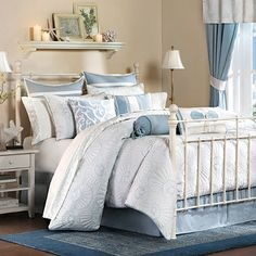 Harbor House Crystal Beach Bedding - Best Sales and Prices Online! Home Decorating Company has Harbor House Crystal Beach Bedding Beach Theme Bedding, Beach Comforter, Beach Bedding Sets, Coastal Bedding, Coastal Bedrooms, Queen Bedding Sets, Comforter Sets, Luxury Bedding, Coastal Living