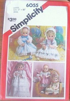 Baby Doll Clothes Dresses for Dolls 1718 Tall by LetYourselfSew, $4.00