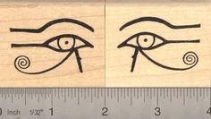 2 pc Egyptian Eyes of Horus Rubber Stamp Set AKA Eye of Ra Wedjat 1101 His right eye on your left if you were facing him 1102 His left eye on your right if you were facing him -- Be sure to check out this awesome product.