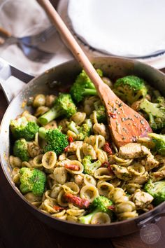 Basil Pesto Chicken Pasta with Sundried Tomatoes and Broccoli