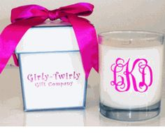 monogrammed candle!