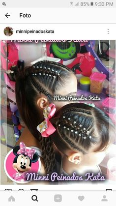 Girly Hairstyles, Kids Braided Hairstyles, Little Girl Hairstyles, Hairdos, Braids For Kids, Girls Braids, Corte Y Color, Manicure Y Pedicure, Toddler Hair