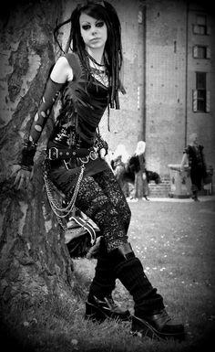Unique Goth Punk Outfit