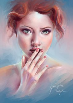 Painting me by gabrielleragusi on @DeviantArt