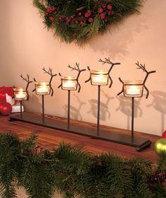 Leaping Reindeer Candleholder