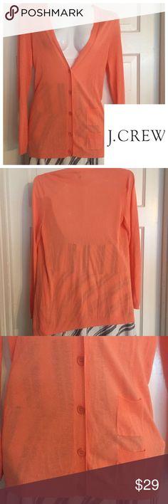 ⚜J. Crew Coral Cardigan Sweater. Size Medium ⚜J. Crew Coral Cardigan Sweater. Size Medium. Worn once. Nearly new condition. 100% rayon. J. Crew Sweaters Cardigans