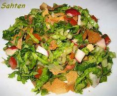 Fattouch (salade libanaise ) - Cuisine libanaise par Sahten