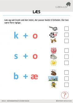 Læsning 0.1 Reading Words, Kindergarten Class, Home Schooling, Grade 1, Sprog, Alphabet, Homeschool, Language, Teacher