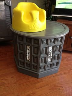 gray Spray painted coffee table