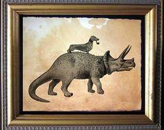 Antique Print Wiener Dog Art Dachshund Vintage Print Charcoal Black Style with Offwhite Paper Texture Background No.1643 B40 8x8 8x10 11x14 @ sparrowhouseprints.etsy.com #WallArt #SparrowHousePrints #Art #Print #Vintage #Antique #Illustration #Decor