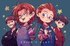i'm in love with the landscape Chucky Horror Movie, Chucky Movies, Horror Movies Funny, Horror Films, Scary Movies, Scary Movie Characters, Child's Play Movie, Childs Play Chucky, Looks Halloween