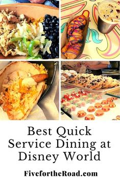 Our picks for the best quick service dining at Disney World. Where to eat at the Disney theme parks. Read more at Five for the Road.com. Dining At Disney World, Disney Dining, Disney World Tips And Tricks, Disney Tips, Walt Disney World Vacations, Disney Theme, Family Travel, Ethnic Recipes, Parks