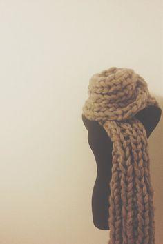 soft warm scarf in grey // warm wool scarf // super by Woolshack, $70.00