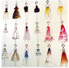 netaporter's photo: Gorgeous sketches spotted Sketchbook Cover, Fashion Sketchbook, Fashion Illustration Sketches, Fashion Sketches, Sketch Instagram, Portrait Sketches, Knitwear Fashion, Sketch Inspiration, Fashion Portfolio