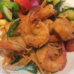 Cajun Shrimp Fettuccine Alfredo | 21 Day Fix Dinner | 21 Day Fix Approved | Container counts included
