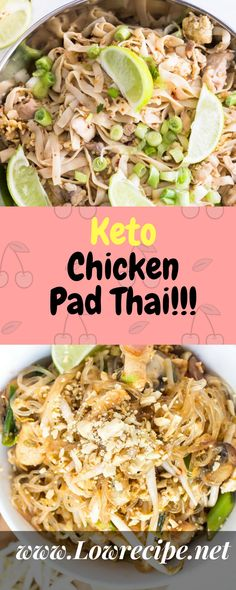 Keto Chicken Pad Thai!!! - Low Recipe