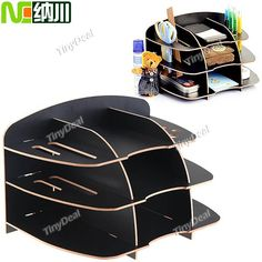 (NC) Multilayer DIY Desktop Stand Storage Table Holder Organizer for Cosmetics Stationery Magazines Household Item HHI-64225