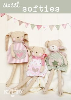 Pattern Cartamodello Sweet softies £6 - a pdf by CountrykittyHandmade