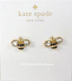 Kate Spade Down the Rabbit Hole Bumble Bee Gold Crystals Stud Earrings Diamond Earrings, Stud Earrings, Kate Spade Earrings, Jewelry Accessories, Rabbit Hole, Crystals, Bees, Gold, Jewellery