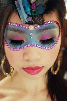 Colorful Masquerade Makeup