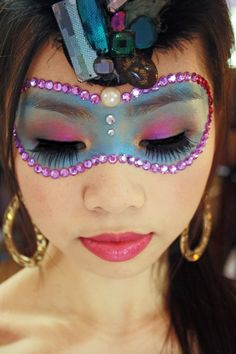 Colorful Masquerade Makeup