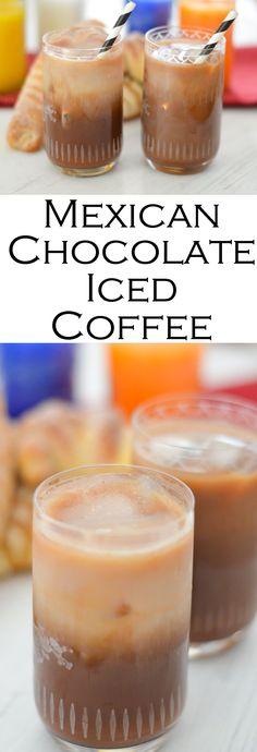 Mexican Chocolate Iced Coffee - Dia de los Muertos Drink #icedcoffee