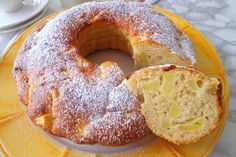 Ciambella soffice mele, yogurt e cannella