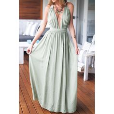 Lace Back Deep V-Neck Prom Dress Disheefashion (€24) ❤ liked on Polyvore featuring dresses, green dress, lace back prom dresses, low v neck prom dress, green cocktail dress and deep v neckline dress