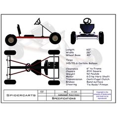 Free Go Kart Plans and Blueprints for SpiderCarts' BlackWidow Go Kart