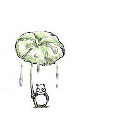 【一日一大熊猫】 2014.8.21 大きな蕗を持っているキャラクターを見かけるけど これはコロボックルと言ってアイヌに伝わる小人だよ。 #コロボックル #パンダ